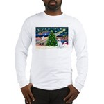 Xmas Magic & Akita Long Sleeve T-Shirt