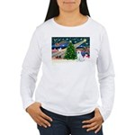 Xmas Magic & Akita Women's Long Sleeve T-Shirt