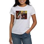 Santa & Akita Women's T-Shirt