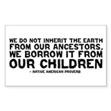 Quote - Native American - Children Decal