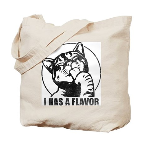 I HAS A FLAVOR - Kitteh Retro Tote Bag