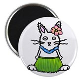 "Tropical Bunny 2.25"" Magnet (10 pack)"