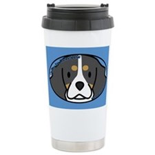 Anime Tri Cavalier Spaniel Ceramic Travel Mug
