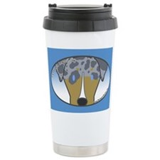 Anime Quad Catahoula Ceramic Travel Mug