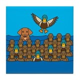 Toller in Ducks Tile Coaster