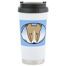 Anime Sable Smooth Collie Ceramic Travel Mug