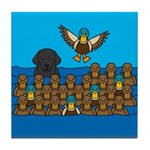 Lab in Ducks Tile Coaster