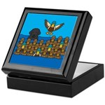 Lab in Ducks Keepsake Box
