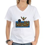 Lab in Ducks Women's V-Neck T-Shirt