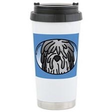 Anime Grey Bergamasco Travel Mug