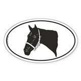 Thoroughbred 2 Oval Decal