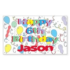 Jason's 6th Birthday Rectangle Decal