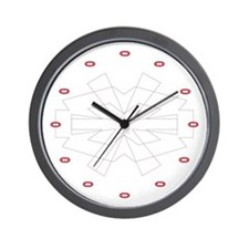 Icon Small Wall Clock (red)