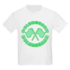 Vintage Colorguard Green Kids T-Shirt