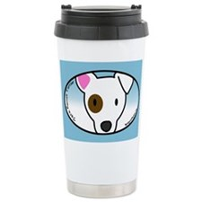 Anime Eyepatch Jack Russell Ceramic Travel Mug