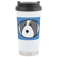 Anime Bearded Collie Ceramic Travel Mug