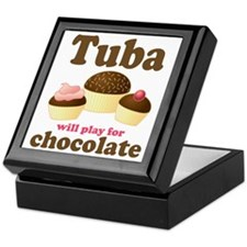 Funny Chocolate Tuba Keepsake Box