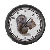 Elegant Squirrel Large Wall Clock