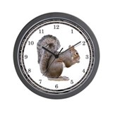 Elegant Squirrel Wall Clock
