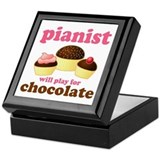 Chocolate Pianist Keepsake Box