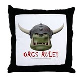 Orcs Rule (2) Throw Pillow