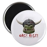 "Orcs Rule (2) 2.25"" Magnet (10 pack)"
