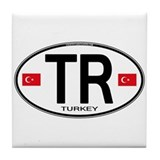 Turkey Euro Oval Tile Coaster