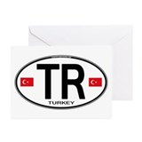 Turkey Euro Oval Greeting Cards (Pk of 10)