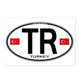 Turkey Euro Oval Postcards (Package of 8)