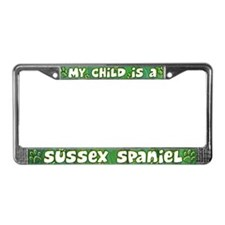 My Kid Sussex Spaniel License Plate Frame