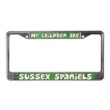 My Children Sussex Spaniel License Plate Frame