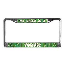 My Kid Yorkie License Plate Frame
