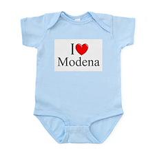 """""""I Love (Heart) Modena"""" Infant Bodysuit"""