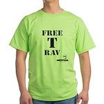 Free T-Rav Stencil Green T-Shirt