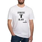 Free T-Rav Stencil Fitted T-Shirt