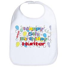 Hunter's 5th Birthday Bib