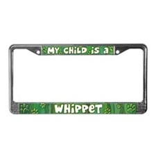 My Kid Whippet License Plate Frame