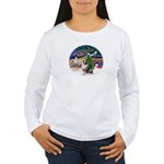 XmasMagic/Aussie (#1) Women's Long Sleeve T-Shirt