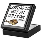 Losing Softball Keepsake Box