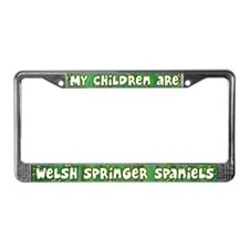 My Children Welsh Springer License Plate Frame