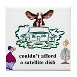 satellite dish Design Preview Tile Coaster