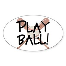 Play ball Oval Decal
