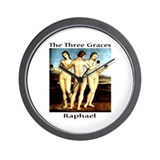 Raphael-3 Graces Wall Clock