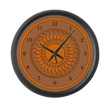 Brown and Orange Large Wall Clock
