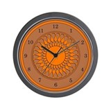 Brown and Orange Wall Clock