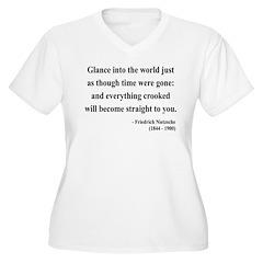 Nietzsche 30 Women's Plus Size V-Neck T-Shirt