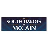 South Dakota for McCain Bumper Bumper Sticker