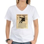Annie Oakley Women's V-Neck T-Shirt