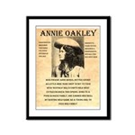 Annie Oakley Framed Panel Print