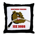 Ice Dog  Throw Pillow